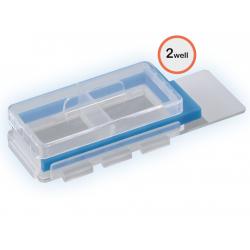 Objektträger mit Kammern für die Zellkultur