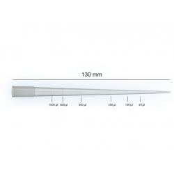 Pipettenspitzen 1200 µl, 130 mm lang , graduiert