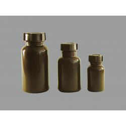 Weithalsflaschen aus PE braun